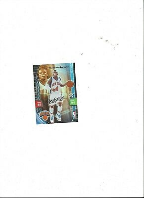 Robinson, New York Knicks (Nate Robinson - New York Knicks NBA Panini Adrenalyn Trading Card 2010 signature)