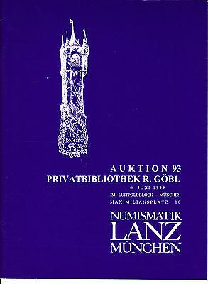 LANZ AUKTION  93 Katalog 1999 Lexika Kataloge Karte Trivialliteratur Plakette ~