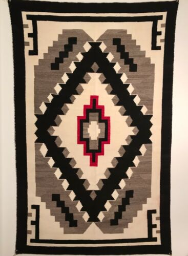 AWESOME NAVAJO RUG,KLAGETOH TRADING POST,BEAUTIFUL COLORATION,EXCELENT CONDITION