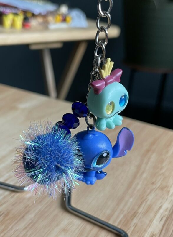 Stitch & Scrump Loungefly Backpack Clip Key Chain Doorables