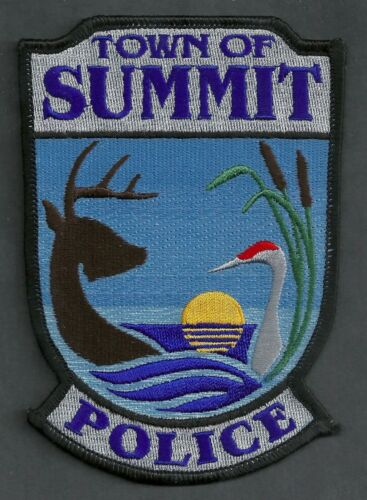 SUMMIT WISCONSIN POLICE SHOULDER PATCH
