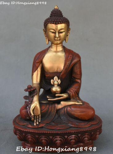 Tibetan Bronze Gilt Buddhism Long Life longevity Buddha Goddess Kwan-yin Statue