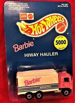 Hot Wheels Barbie Highway Hauler LTD ED  5,000 Mattel Barbie Apparel Truck  NMOC