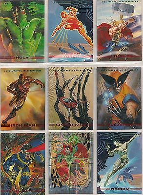 1993 MARVEL MASTERPIECE COMPLETE BASE SET WOLVERINE SPIDER MAN X-MEN NM/M RARE
