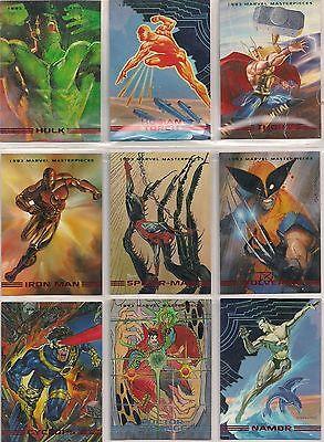1993 MARVEL MASTERPIECE COMPLETE BASE SET WOLVERINE SPIDER MAN X-MEN NM/M RARE