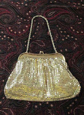 Vintage WHITING & DAVIS Gold Mesh Evening Bag Classic Elegance!
