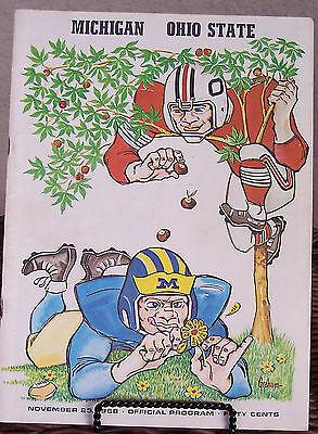 1968 Michigan vs Ohio State original football program National Champions
