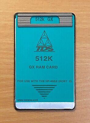 Tds 512k Gx Ram Card For Hp 48gx Calculator