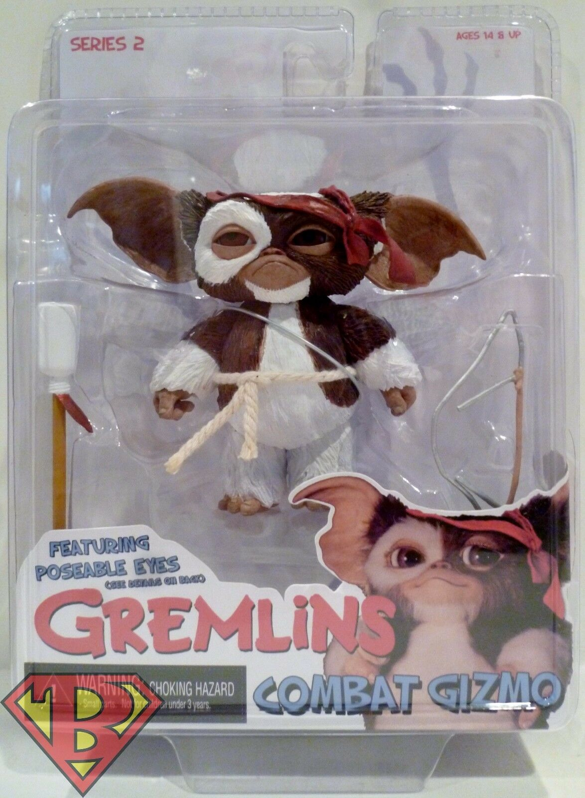 "COMBAT GIZMO Gremlins Movie 3"" inch Mogwais Figure Poseable"
