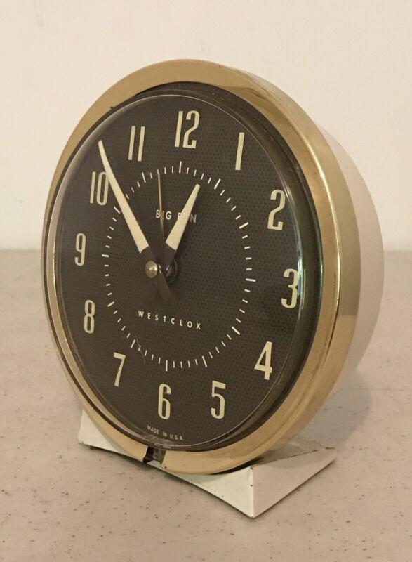 Vintage Westclox Big Ben Wind-Up Alarm Clock Working 75-102 Style 4A