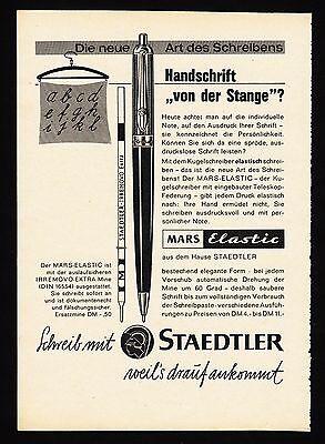 3w1642/ Alte Reklame von 1960 - schreibe mit STAEDTLER - weil´s drauf ankommt.