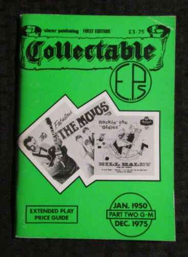 1983 Vinrec COLLECTIBLE E.P.S G-M Booklet / Price Guide FN- 5.5 First Edition