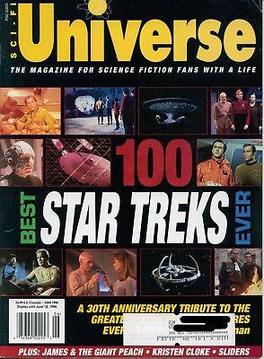 Sci-fi Universe Magazine June 1996 Very Good cond Star Trek 100 Best
