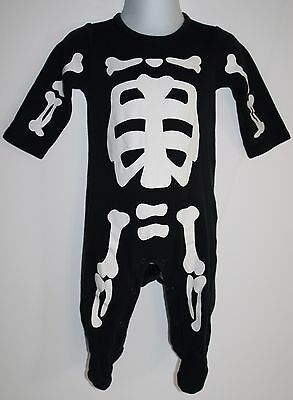 Carters Halloween Costume Baby SKELETON 6 Months Infant 1 Piece GLOW IN THE (Baby Glow In The Dark Costume)