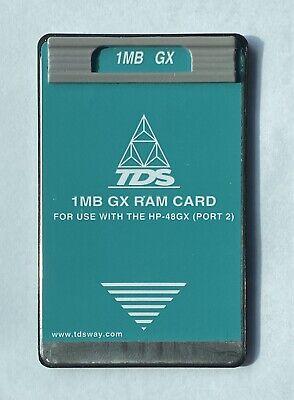 Tds 1mb Ram Card For Hp 48gx Calculator