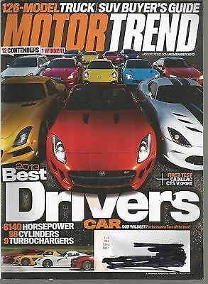 Motor Trend November 2013 Best Drivers Cars Truck  Suv  Van Buyer Guide