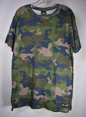 Club Les Artists Mens T-Shirt Camo Camouflage SS Top L