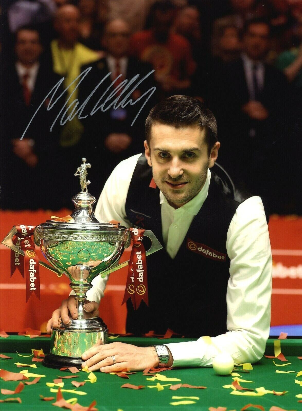 Mark Selby - English 2021 World Snooker Champion - In Person Signed Photograph.