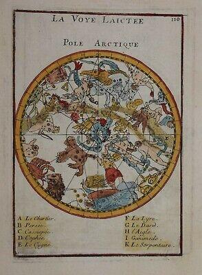 CELESTIAL - NORTHERN SKY -  LA VOYE LAICTEE, POLE ARCTIQUE BY MALLET 1683.