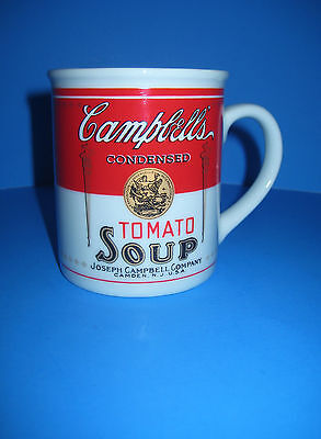 Campbell Soup Company Mug Vtg Tomato Soup Label 125Th Anniv Collectible Iob