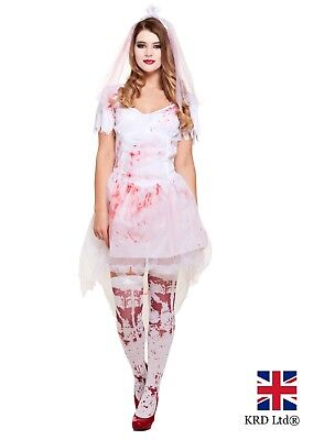 Halloween Fancy Dress Costume Prom Queen Carrie 80s Outfit (Carrie Halloween-kostüm)