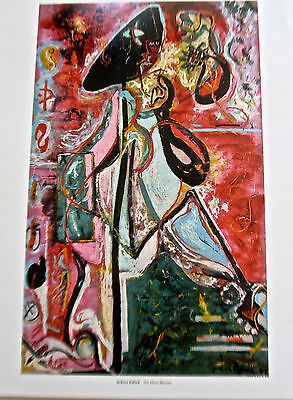 Jackson Pollock The Moon Woman Abstract Form Offset Lithograph Unsigned 14x11