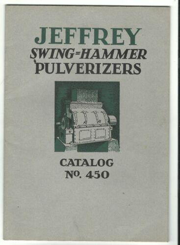 1928 Catalog Jeffrey Pulverizers Jeffrey Manufacturing Co Columbus OH