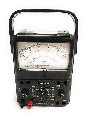 Vintage Simpson 260 Series 7 Analog Volt Ohm Milliammeter Vom W 2x Plug Adapter