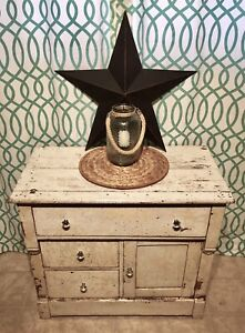 Heavily Distressed Antique Farmhouse Cabinet