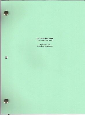 """THE TWILIGHT ZONE  show script """"The Howling Man"""""""