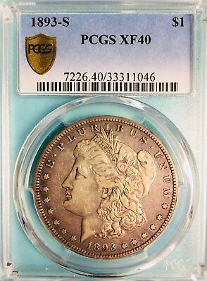 1893 S Morgan Dollar - RARE - PCGS XF40 - Great Coin