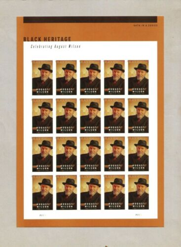 5555a MNH Imperf August Wilson sheet no diecut excellent condition