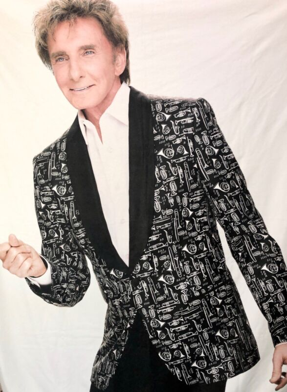 Barry Manilow Fiel Microfleece Blanket Throw Concert Vegas Show Fanilow RARE