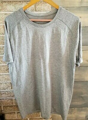 LULULEMON Men's Light Grey T-Shirt, Size XL