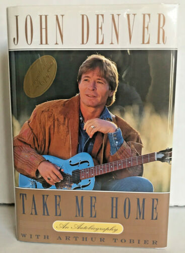 HAND SIGNED!! Authentic Autograph JOHN DENVER Take Me Home BOOK 1st EDITION