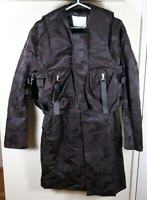Matthew Miller Rane Mac Coat with Vest Camo Size Large Brand New