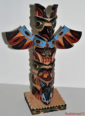 Bill Kuhnley TOTEM POLE WOOD CARVING SCULPTURE INUIT PACIFIC NORTHWEST