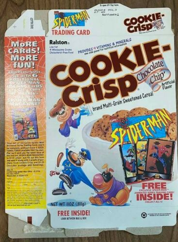 RALSTON ~ COOKIE CRISP ~SPIDER-MAN TRADING CARD OFFER-1994 CEREAL BOX