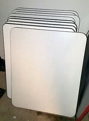 9 Restaurant Table Tops 24 X 30 Dining Commercial Tabletops White Laminate Used