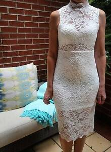 White lace bodycon stretch cocktail dress NWT Penshurst Hurstville Area Preview
