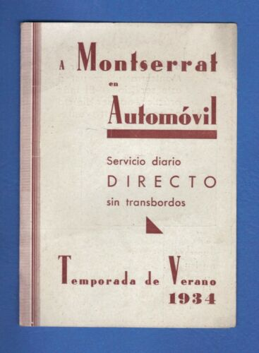 1934 Illustrated Travel Brochure MONTSERRAT SPAIN by Automobile from Barcelona