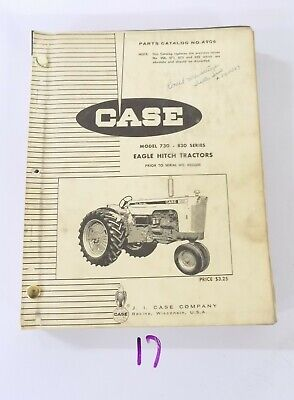 Case Model 730 830 Eagle Hitch Tractor Parts Catalog A906 Prior To Sn 8253500