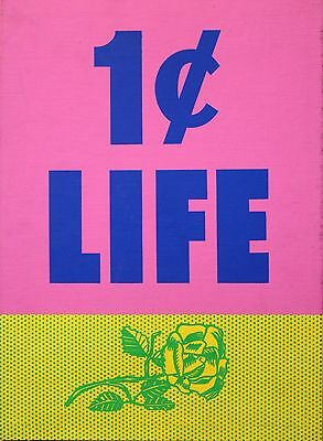 "Roy Lichtenstein ""1 CENT LIFE"" Orig Pop Art Portfolio Cover Rose with Binding"