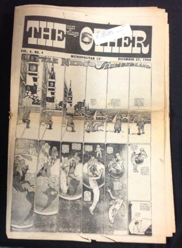 """DEC. 27 1968 """"The East Village Other"""" underground newspaper Deitch Windsor McKay"""