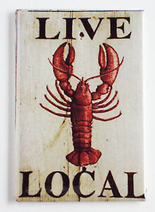 Live Lobster FRIDGE MAGNET sign seafood Maine local