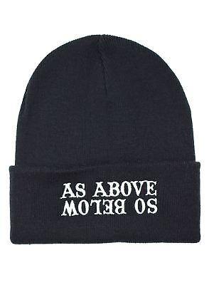 As Above So Below Beanie Hat Darkside Alternative Knitted Beanie