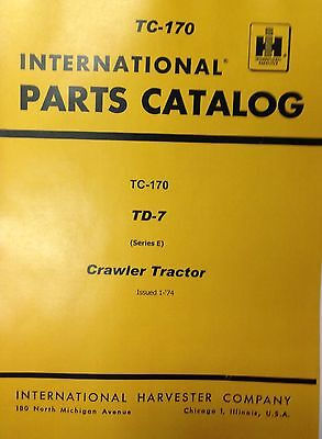International Ih Dresser Td7e Crawler Tractor Dozer Parts Manual -9500 Below