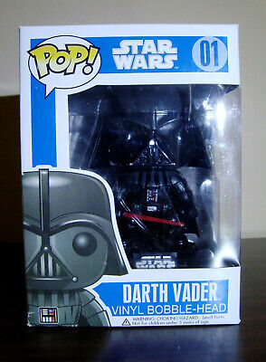 FUNKO STAR WARS POP! DARTH VADER VINYL BOBBLE-HEAD MIB SEALED SERIES 1 RARE!!