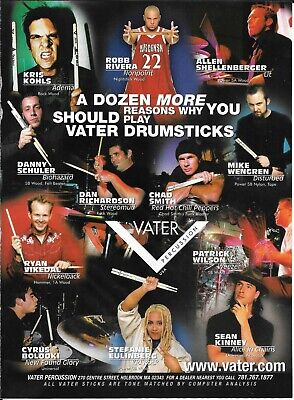 Vater Percussion -Kohls /Rivera /Shellenberger /Wengren / Smith - 2002 Print Ad