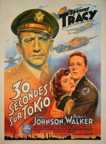 30 SECONDS OVER TOKYO - ORIGINAL FRENCH POSTER - VERY RARE